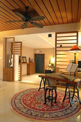 东南亚韩式一居室室内玄关装修设计图片2014