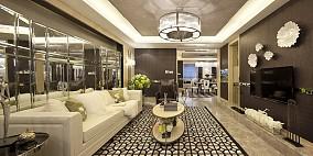 2018精选72平米新古典小户型客厅装修设计效果图片大全
