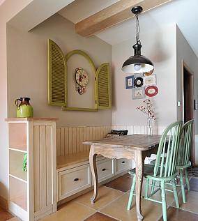 84平米田园小户型餐厅装修效果图片大全