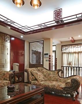 热门面积78平中式二居客厅实景图片欣赏