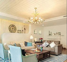 精美小户型客厅地中海装饰图片欣赏