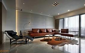92平米三居客厅简约装修欣赏图