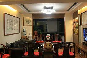76平米二居客厅中式装修图