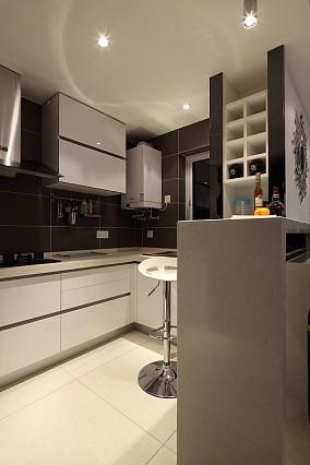 热门面积71平小户型厨房现代效果图片大全
