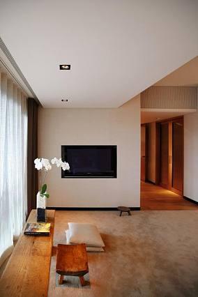 客厅休闲区电视背景墙设计图片