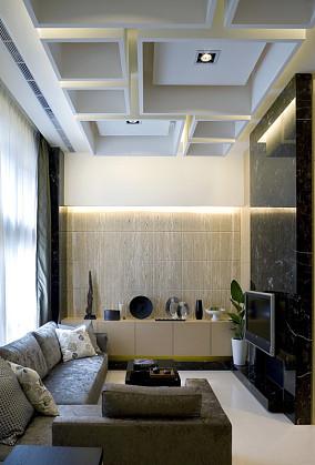 现代客厅背景隔断墙装修效果图