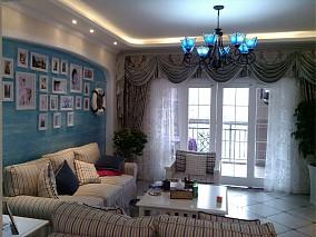 热门面积81平小户型客厅地中海装修设计效果图