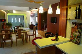 东南亚风格餐厅电视背景墙设计效果图