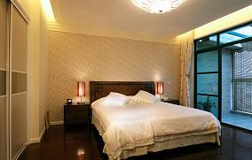 精美107平米三居卧室中式装修实景图片