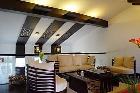 现代中式风格阁楼设计效果图