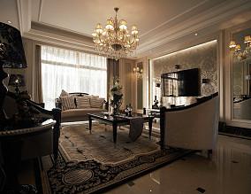 美欧风格客厅装修效果图片