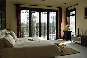 热门118平米中式别墅卧室装修实景图