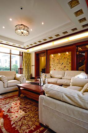 中式风格客厅吊顶装修设计图