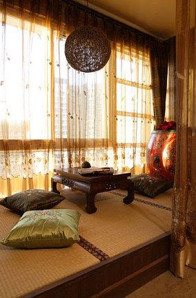 东南亚风格飘窗榻榻米装修效果图