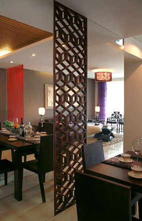 中式风格餐厅隔断设计图片大全