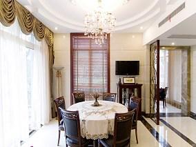 美式风格豪华别墅餐厅设计图片大全