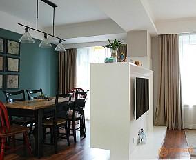 现代美式风格餐厅隔断墙设计效果图