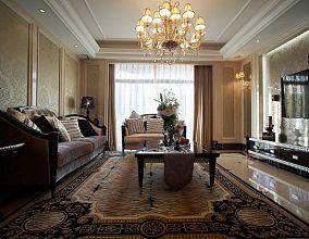 欧式风格客厅电视背景墙装修图片大全