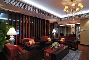 中式风格客厅隔断设计图片欣赏