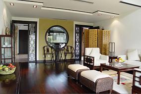 现代中式风格客厅隔断屏风设计图片