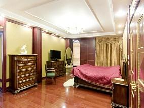 精美美式别墅卧室装修图