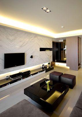 2018精选74平米二居休闲区现代装修效果图片大全