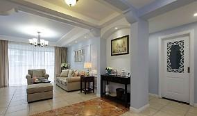 面积87平小户型休闲区美式装饰图片欣赏