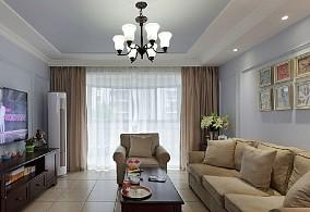 热门大小109平美式三居客厅装修欣赏图片