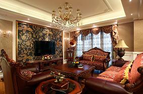 美欧风格客厅电视背景墙装修效果图
