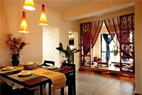 中式风格大户型榻榻米飘窗装修图片