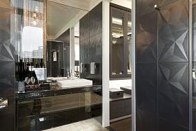 现代豪华风格卫生间隔断墙装修效果图