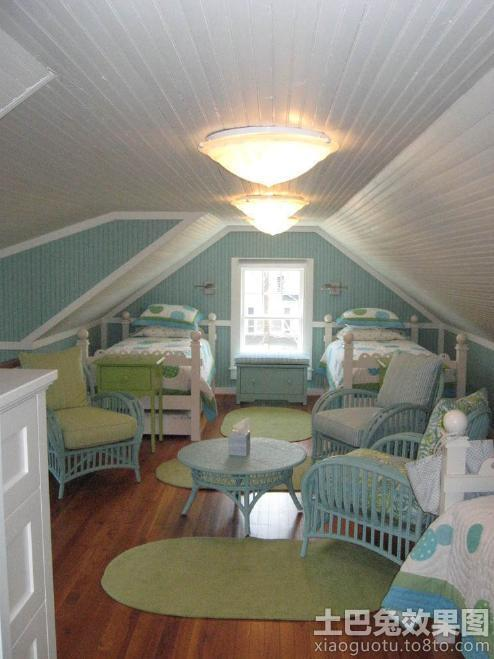 small attic bedroom pictures - 地中海风格带阁楼的房子装修设计效果图 土巴兔装修效果图