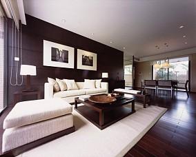120平米现代中式风格三居室装修效果图