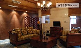 117平米复古别墅休闲区欣赏图