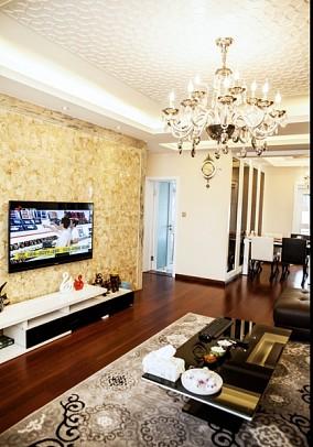 简约现代风格客厅电视背景墙设计效果图