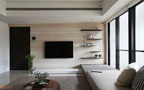 现代风格客厅电视背景墙装修图
