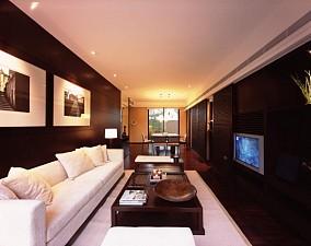 现代中式客厅电视背景墙装修效果图欣赏大全