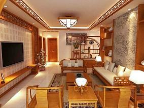 中式风格三室两厅装修效果图片大全欣赏