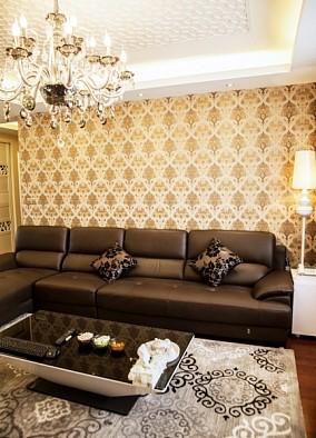 简约现代风格沙发背景墙装修效果图