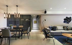 现代室内餐厅客厅过道装修效果图
