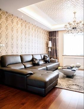 简约现代风格沙发背景墙设计图片