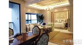 现代中式风格四室两厅装修效果图