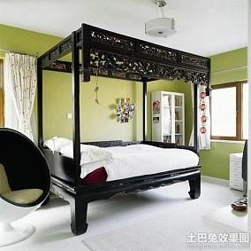 美中式风格两室两厅装修效果图