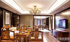 116平米中式风格两室两厅家居客厅装修设计图片大全