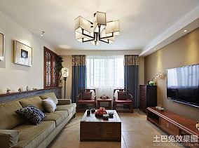 中式家居117平米二居室内装修设计图片欣赏