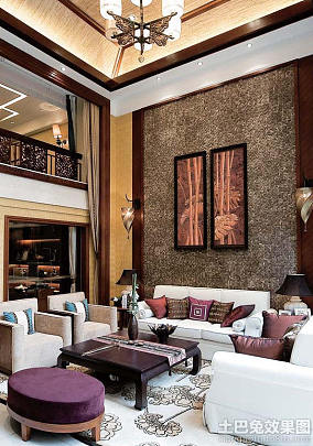 东南亚风格别墅室内装修设计效果图片大全