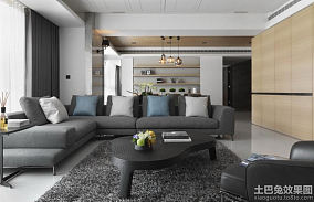 80平米简约一居室装修图片2014