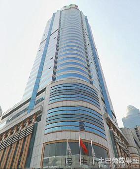 海航实业大厦豪华建筑门头图片