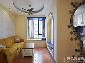 地中海54平米一居家庭装修效果图