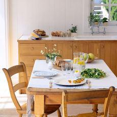 田园实木西餐桌设计图片